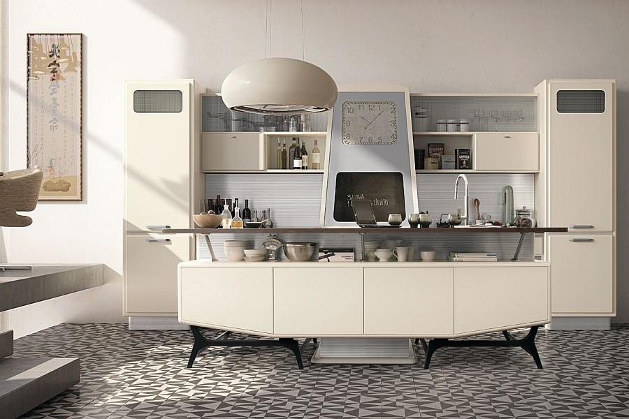 all white retro kitchen