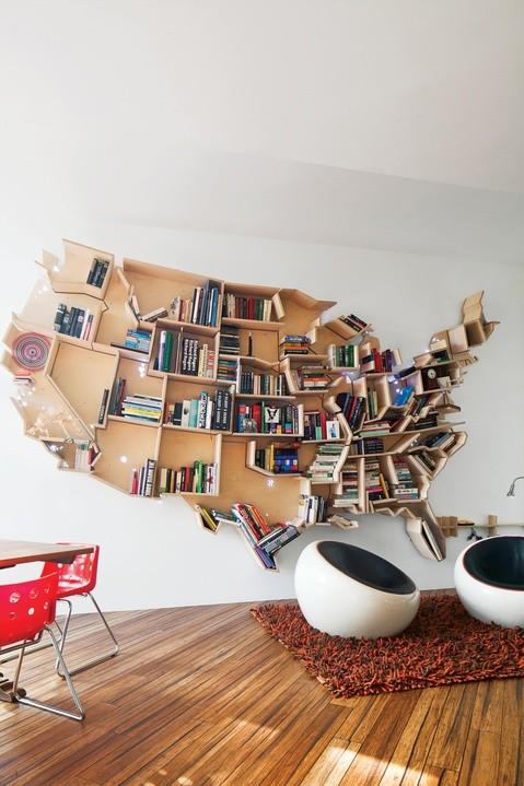 Wood USA bookcase
