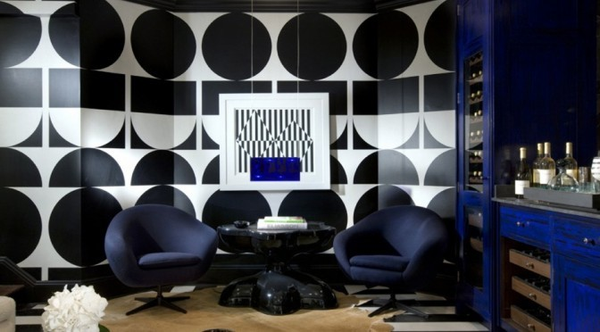 Mod black and white geometric wallpaper