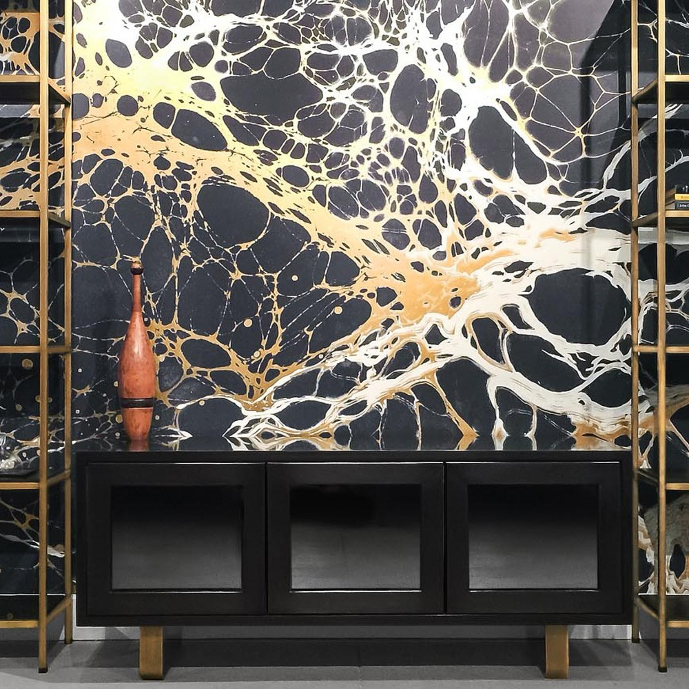 gold white and black marble wallpaper