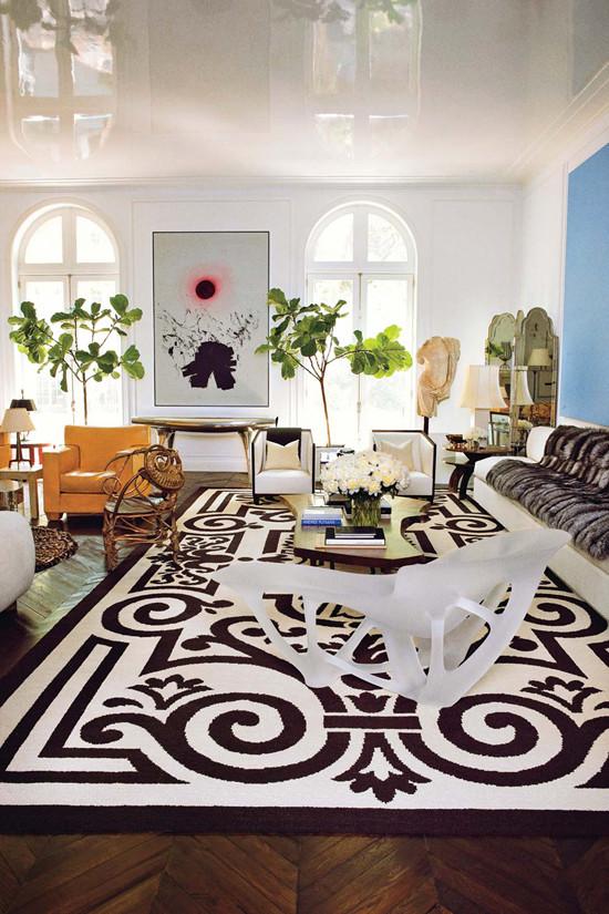 Curlicue carpet design