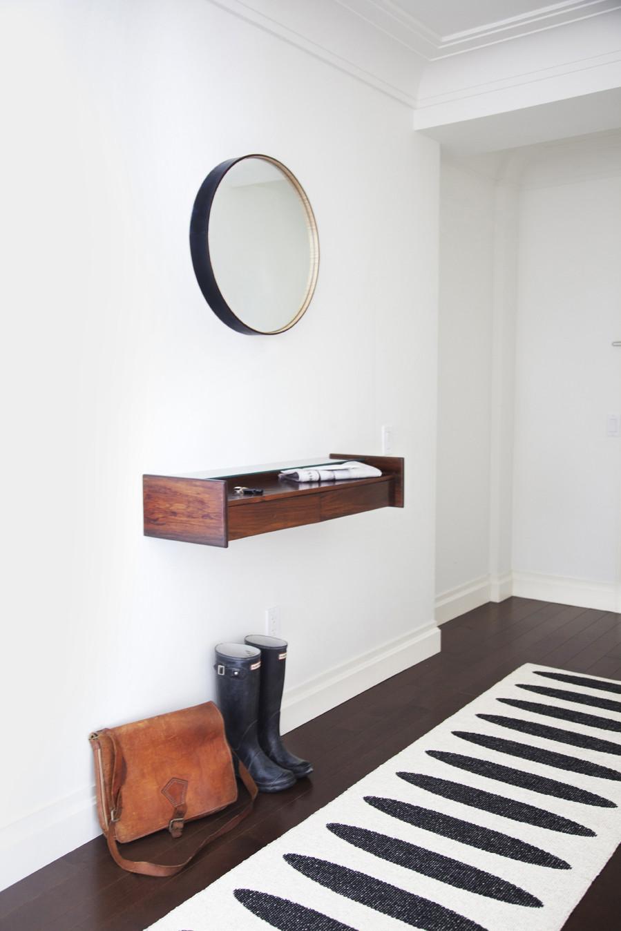 minimalist design of the apartment entrance