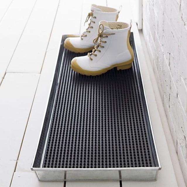Zinc Boot Tray Mudroom Decor