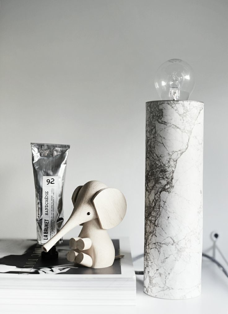 DIY marble base lamp