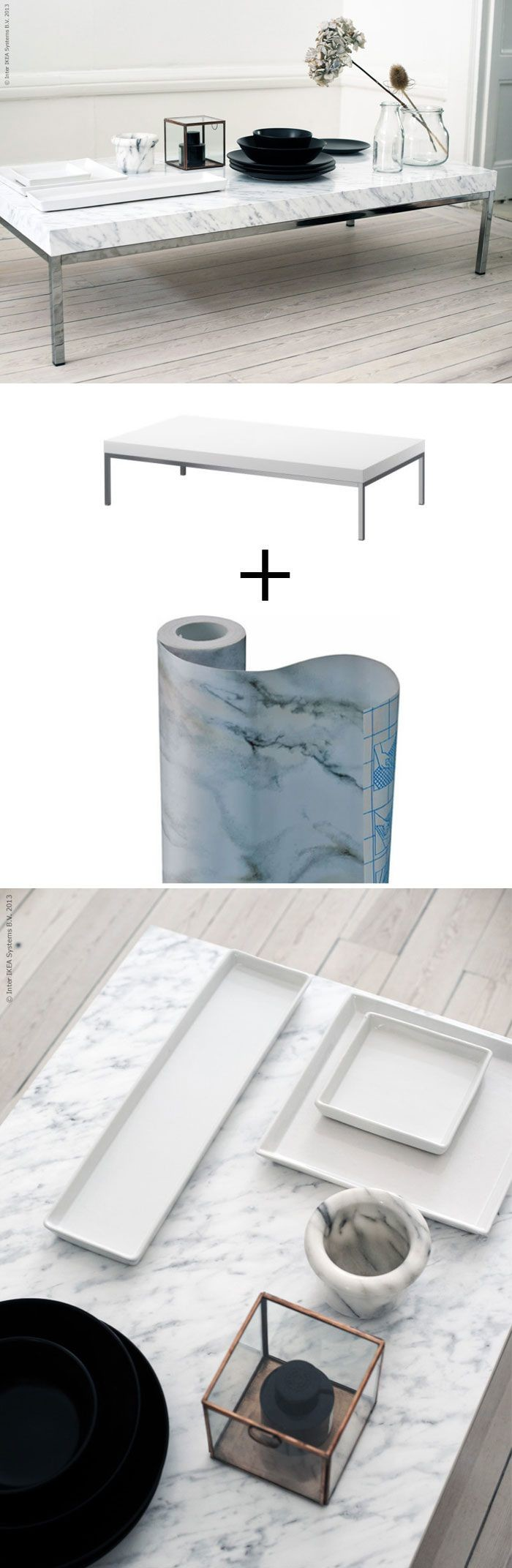 Marble paper sticker DIY project