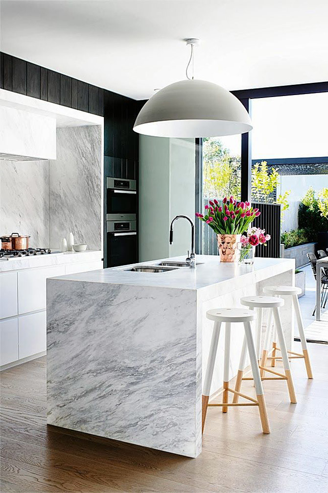all marble kitchen island wooden stools