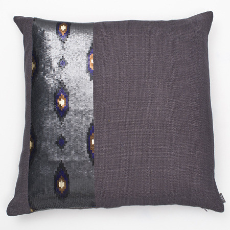 Sequin Ikat Throw Pillow