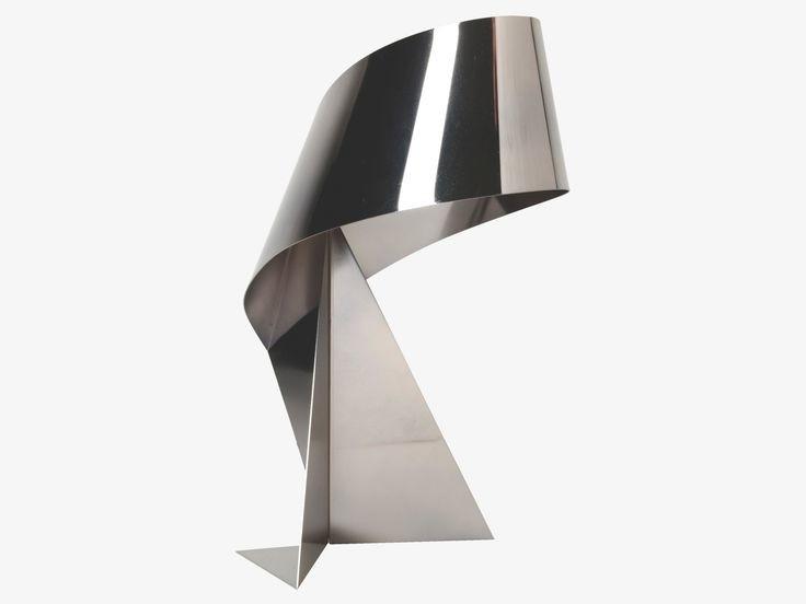 Tape gun metal table lamp
