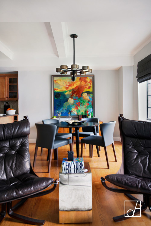 abstract painting dining room design