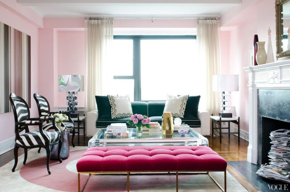 light pink tufted upholstered ottoman