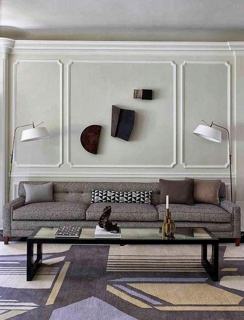 Mid-century sofa wall sculptures