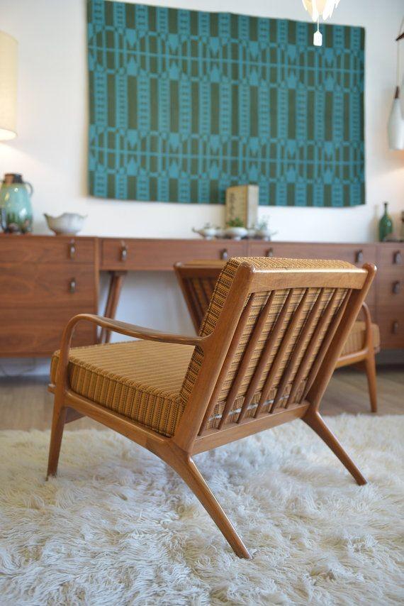 Danish modern deck chair