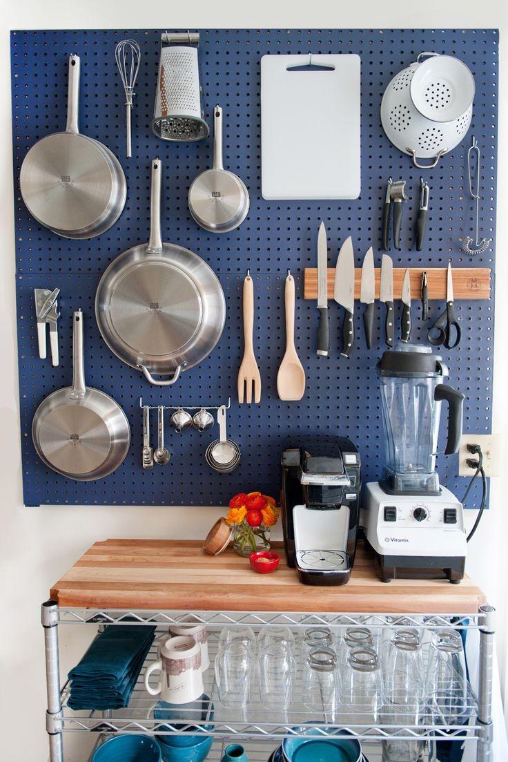 organized kitchen wall storage