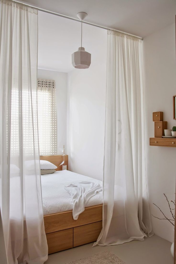 sheer curtains bed canopy