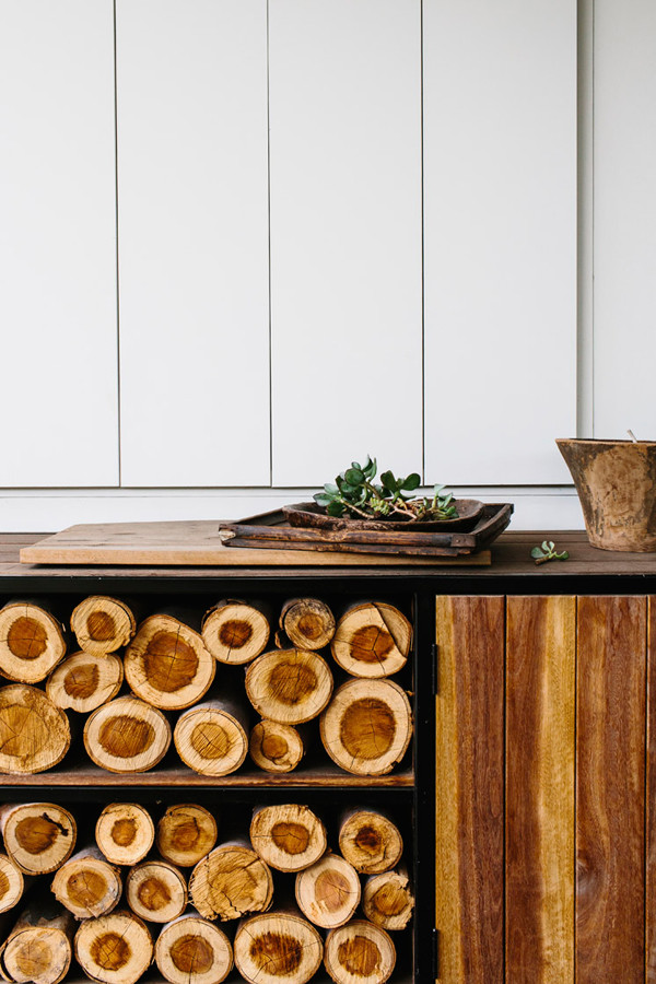 exposed firewood storage