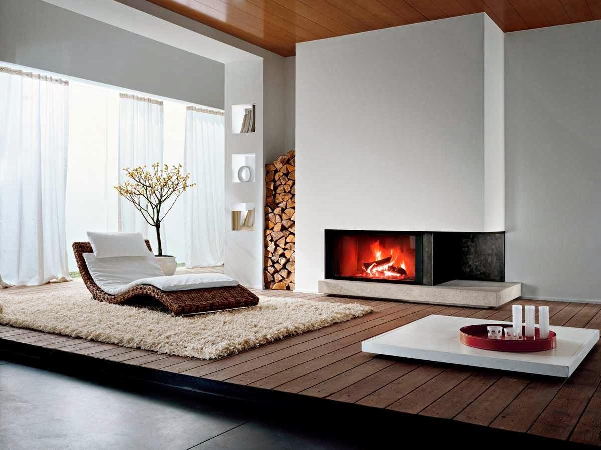Firewood display Modigliani fireplace design