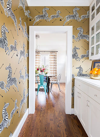 Animal print kitchen wallpaper ideas