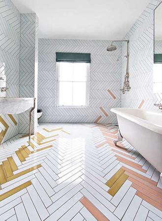 Colorful bathroom floor ideas 2019