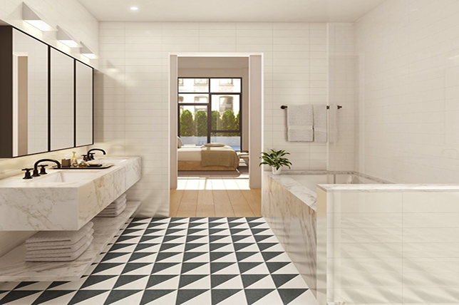 stylish heated bathroom tiles