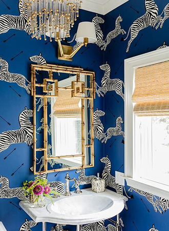 Scalamandre Bathroom Wallpaper Ideas