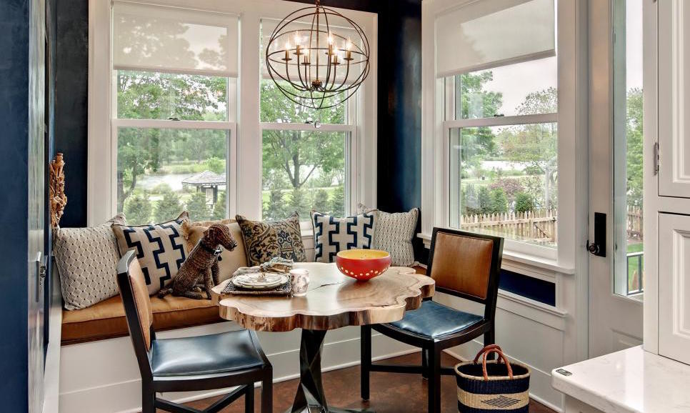 blue breakfast nook