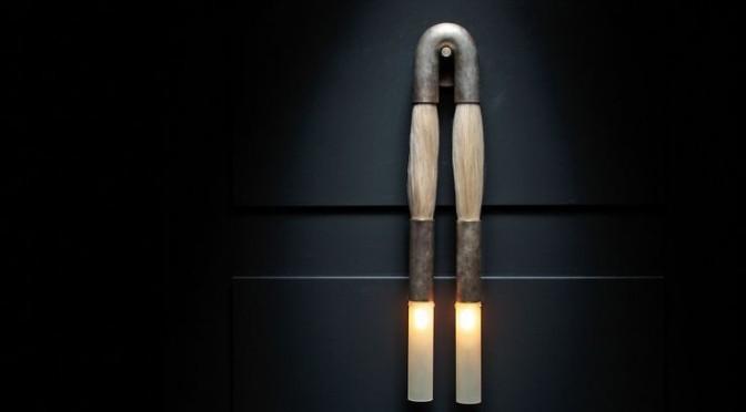 Sculptural wall lamp