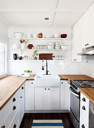 Wood countertop country kitchen ideas