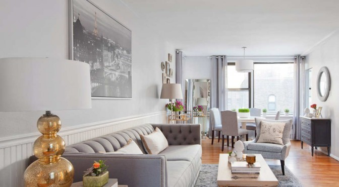 Manhattan gray neat apartment