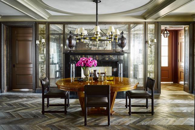 Vintage retro dining room interior design