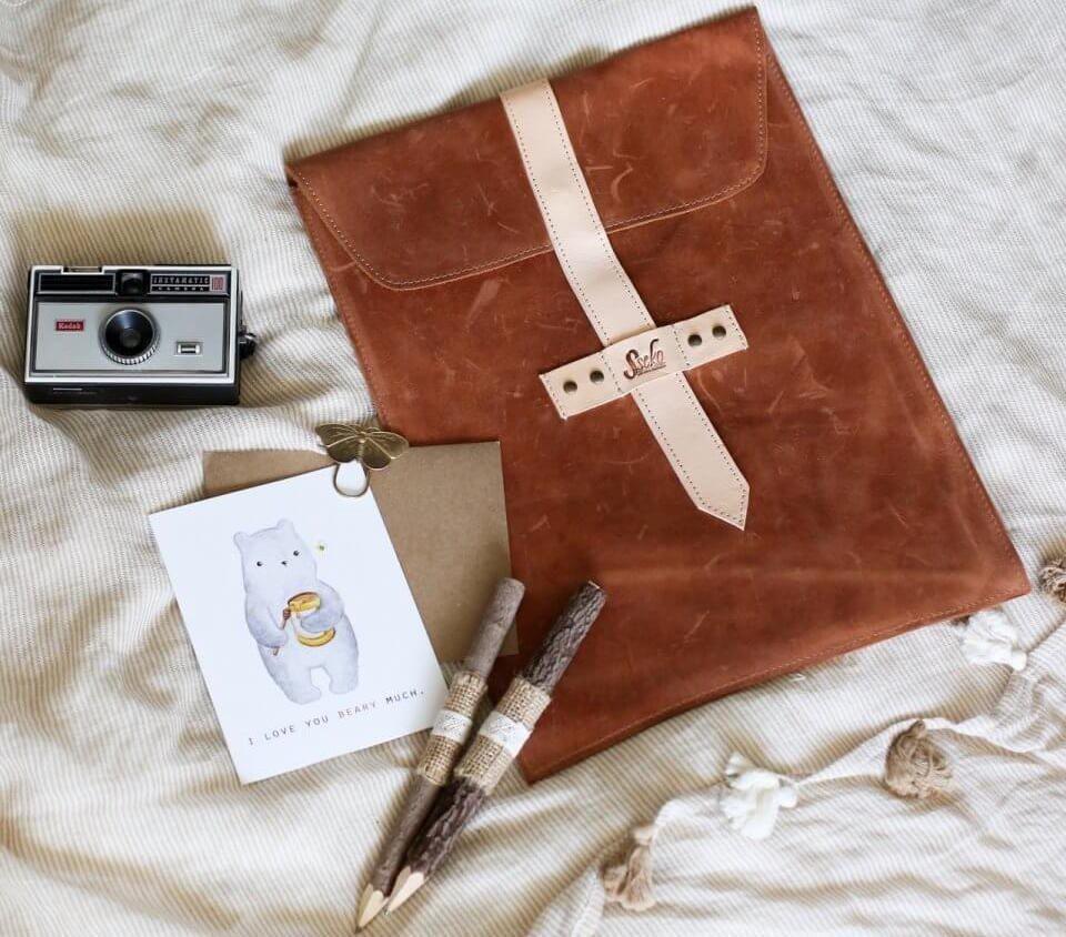 Sseko leather iPad case