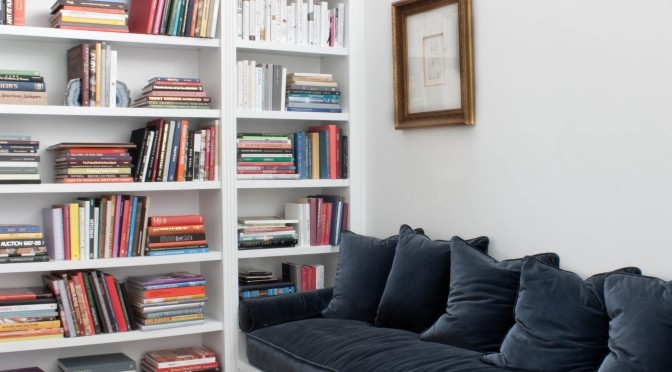 Built-in bookcase bench