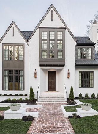 gray and white exterior colors