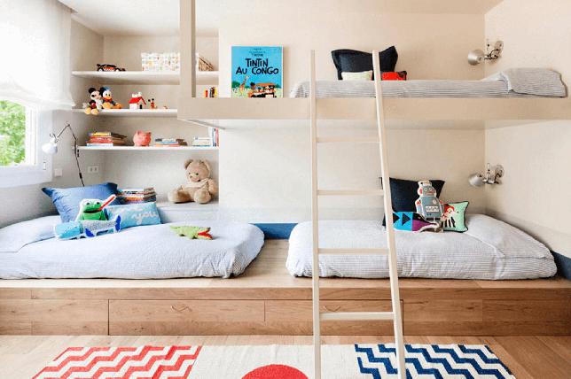 Children's room shelves home improvement ideas