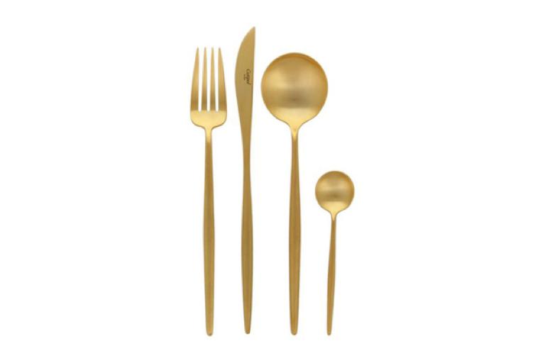 minimal modern gold cutlery