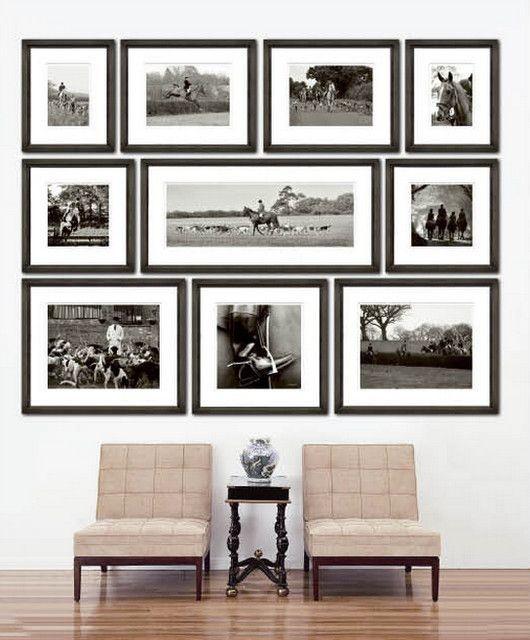 black frame modern wall
