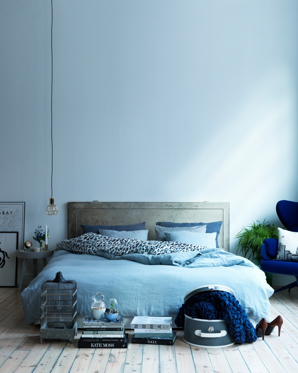 all blue bedroom interior design