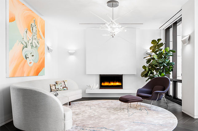 Incorporate art to add pops of color to your home