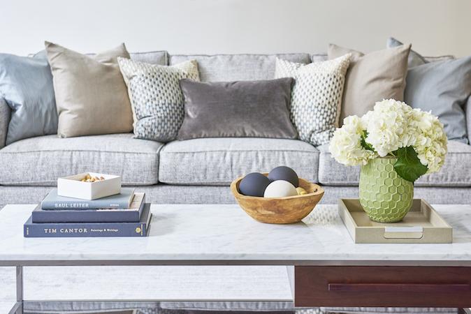 Accent pillow neutral colors
