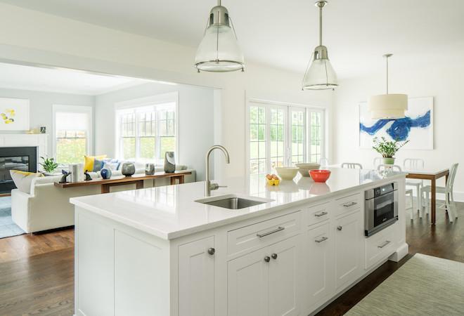 Scarsdale kitchen breakfast nook & living room