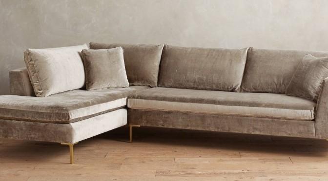Velvet sofas