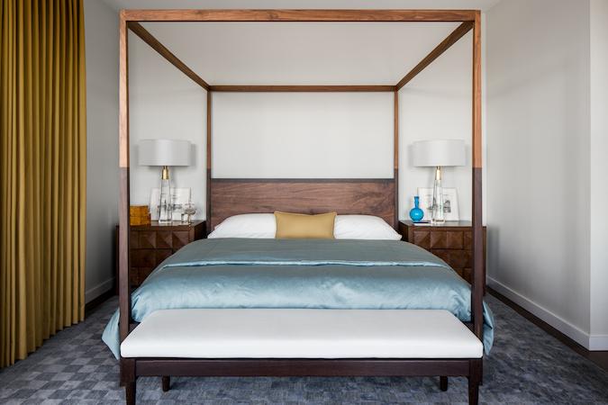 Master bedroom canopy bed frame