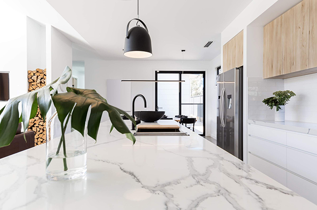 Ideas for modern marble kitchen cabinets