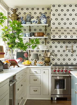 Farmhouse kitchen shelf ideas