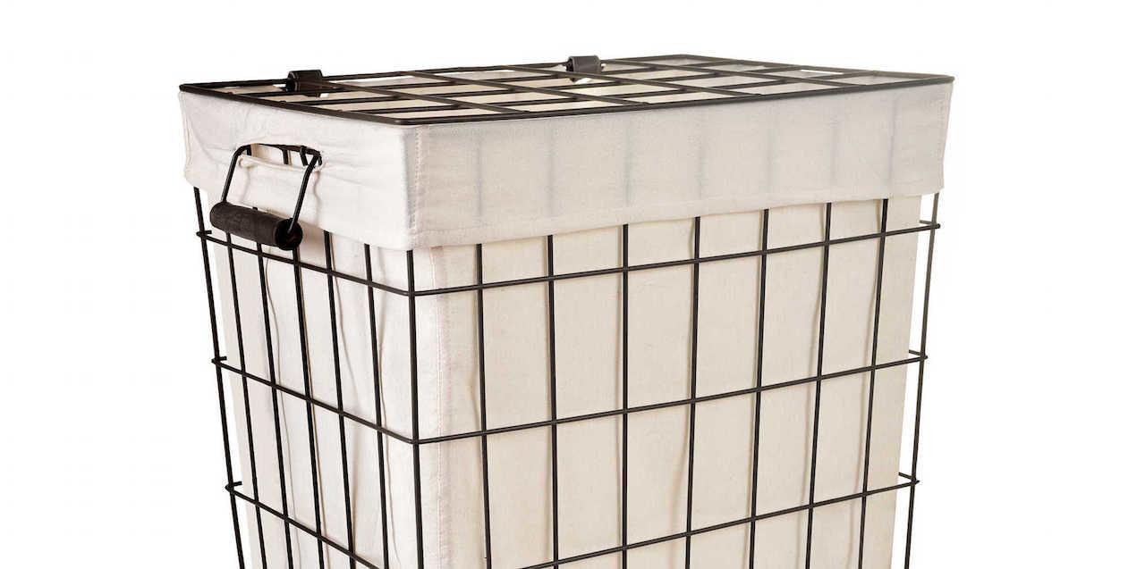 Metal frame basket with liner