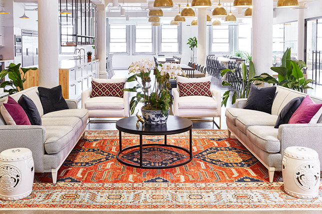 how to layer carpets