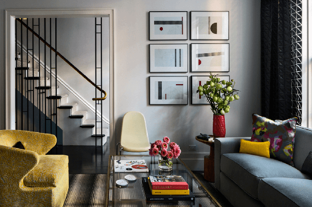 Moody living room interior design 2019