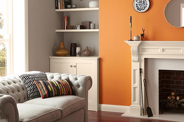 Citrus living room colors
