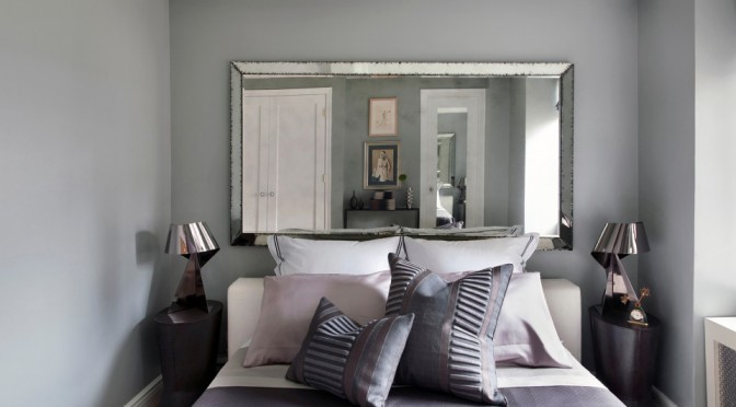 Antique mirror bedroom