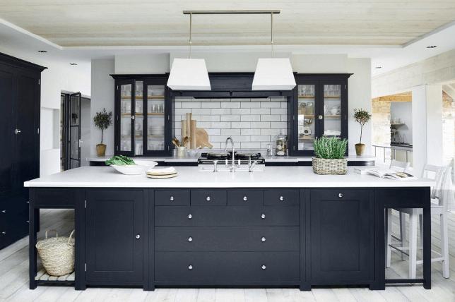 modern kitchen ideas in black and white