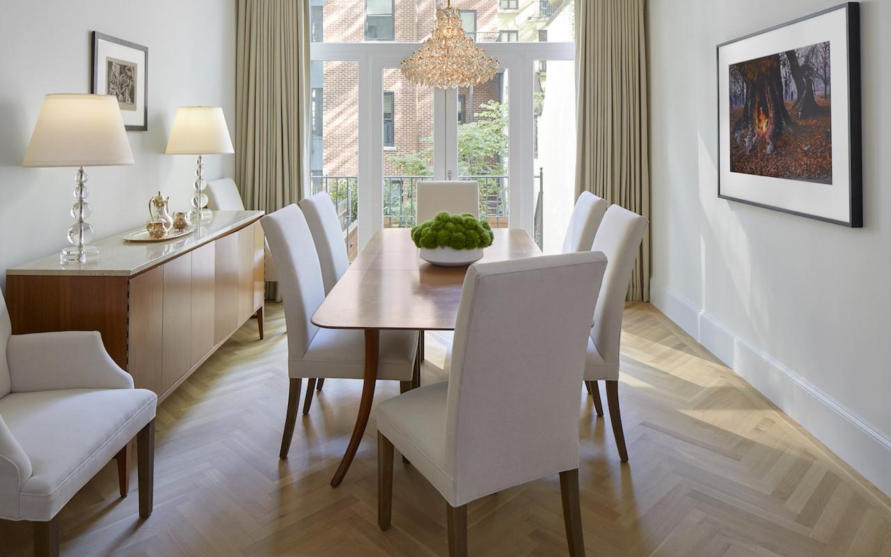 light-flooded dining room